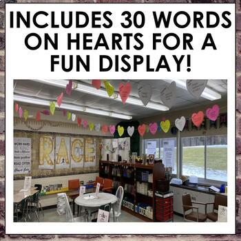 Valentine's Vocabulary Project for Secondary ELA