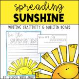 Spreading Sunshine Writing Craftivity and Bulletin Board