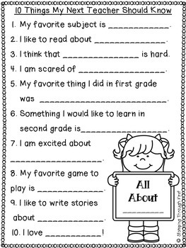 Spreading the News about First Grade