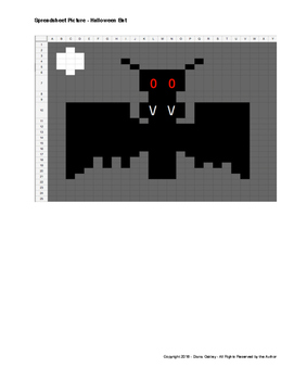Spreadsheet Activity - Draw a Halloween Bat