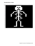 Spreadsheet Activity - Halloween Skeleton Picture