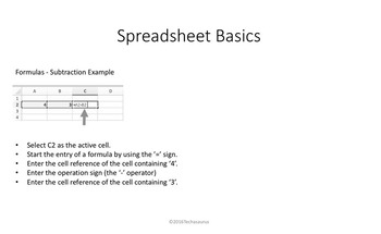 Spreadsheet Basics Powerpoint Unit
