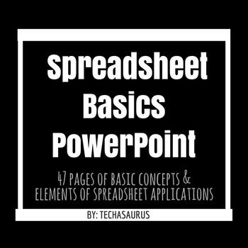 Spreadsheet Basics Powerpoint Unit