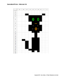 Spreadsheet Drawing - Halloween Cat
