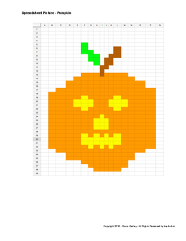 Spreadsheet Drawing - Halloween Pumpkin