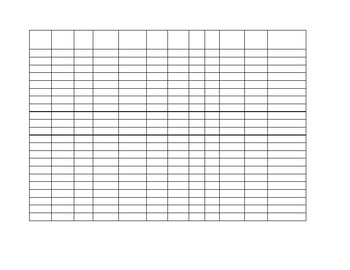 Spreadsheet with apples border Editable