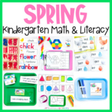 Spring Kindergarten Math & Literacy Centers | March Morning Work Tub Activities