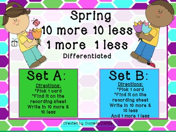 Spring 10 more 10 less (differentiated)