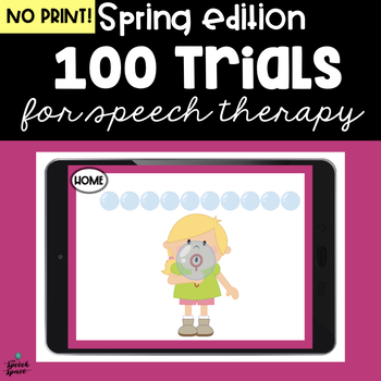 Spring 100 Trials Freebie - Great for Teletherapy | Distance Learning