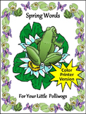 Spring Language Arts Activities: Spring Words Flash-card Set Activity Packet