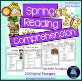 Spring Activities: Spring Reading Comprehension Worksheets