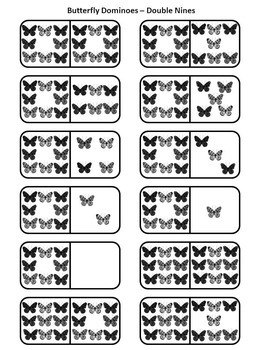 Summer Activities: Butterfly Dominoes Summer Math Activity Packet