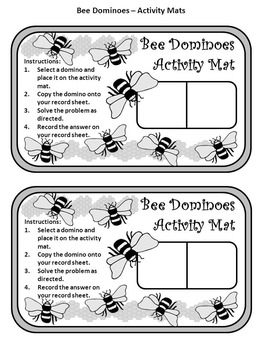 Summer Activities: Bee Dominoes Spring-Summer Math Activity Packet