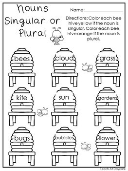 Spring 1st Grade Math and Literacy No Prep Printable Packet.