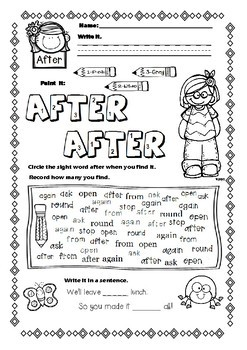 First Grade Sight Words Activites FREEBIE - Spring Themed