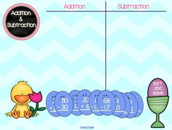 Spring 2 Digit Addition and Subtraction Sort
