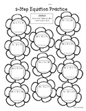 Spring 2-Step Equations Practice Worksheet