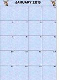 Spring 2019 Binder Calendar