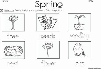 Spring - Vocabulary Pack