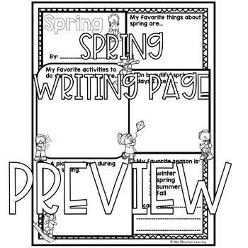 Spring Writing Page
