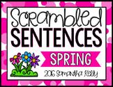 Spring Scrambled Sentence Station