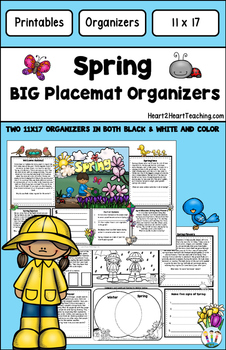 Spring Oranizers - 11x17 BIG Placemat - Welcome Spring in