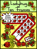 Ladybug Activities: Ladybug Ten Frames Spring-Summer Math Activity Packet