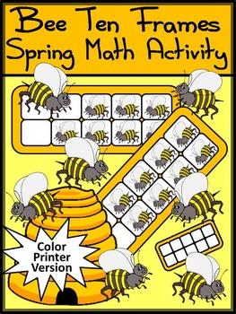 Summer Math: Bee Ten Frames Math Activities Packet