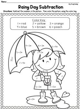 Spring Math Worksheets (Kindergarten, Spring Activities)