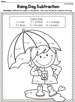 addition coloring pages for kids printables   Spring Math Worksheets (Kindergarten, Spring Activities ...
