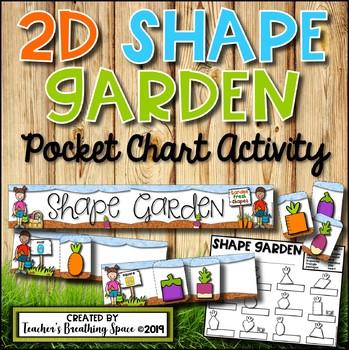 Spring 2D Shape Sorting --- Shape Garden Pocket Chart Set