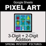 Spring: 3-Digit + 2-Digit Addition - Google Sheets Pixel Art