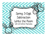 Spring 3-Digit Subtraction Write the Room - With and Witho