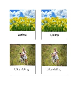 Spring 3 part cards