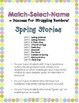 Spring, Reading Intervention, MATCH-SELECT-NAME (Down Syndrome, autism and more)