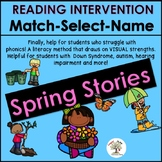 Spring, Reading Intervention, MATCH-SELECT-NAME (Down Syndrome, special ed.)