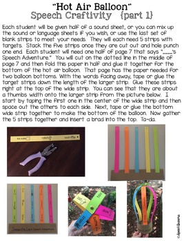 Spring 3D Speech Therapy Crafts {articulation language craftivities}
