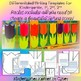 Spring 3D Tulips Flowers Bulletin Board Set Writing Craft Mother's Day K-3