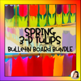 Mother's Day Spring 3-D Tulips Flowers Bulletin Board Set