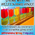 Spring 3D Tulip Writing and Craft Kindergarten 1st 2nd 3rd Bulletin Board Bundle