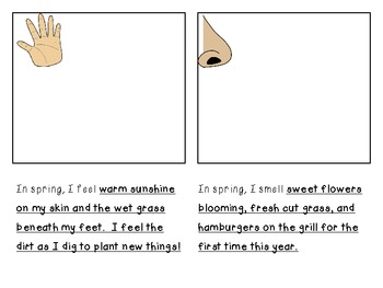 Spring 5 Senses Book (Writing Prompt)