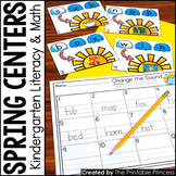 Kindergarten Spring Centers for Math and Literacy Activities
