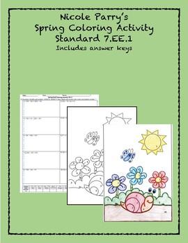 Spring 100.EE.10 Coloring Activity