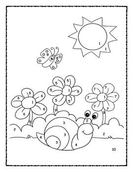 Spring Snail Coloring Activity 100ee10, Ecr10kids Indoor Outdoor
