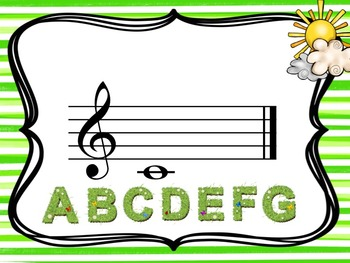 Spring - A Game for Practicing Treble Clef Notation