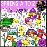 Spring A to Z Clip Art Set {Educlips Clipart}