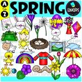 Spring A to Z Clip Art Set {Educlips Clipart}
