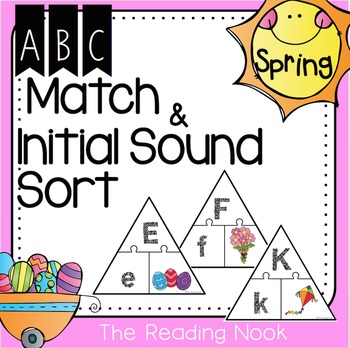 Spring ABC Match and Initial Sound Sort