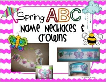 Spring ABC Name Necklaces and Crowns