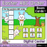 Easter ABC Order  Center - Boom Cards - Digital Distance Learning